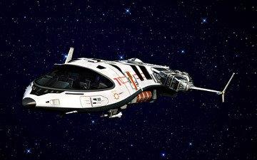 звезды, корабль, форма, пространство