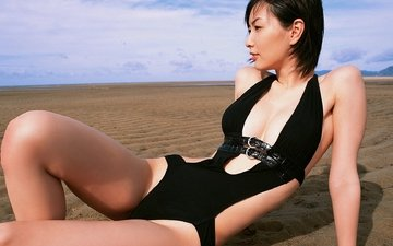 девушки, купальник, японка, nao nagasawa