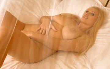 ню, блонд, натуральная грудь, грудастая, натуральные сиськи