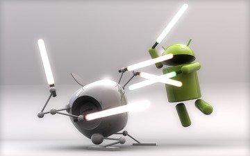 борьба, андроид, мечи, эппл