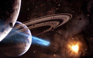 космос, планеты, горячее сердце
