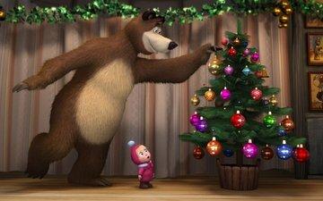 new year, masha and the bear