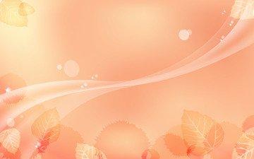 абстракция, линии, листья, фон, узор, цвет, волна