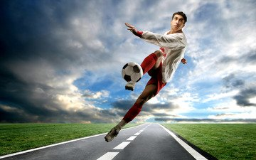 футбол, мяч, футболист