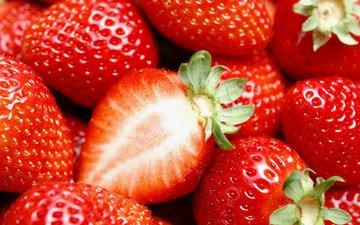 лето, ягода, клубника, вкуснятина