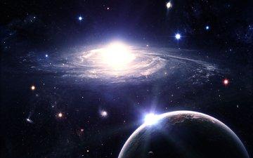 space, planet, zvezdy, sawasdee