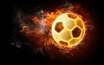 огонь, мяч