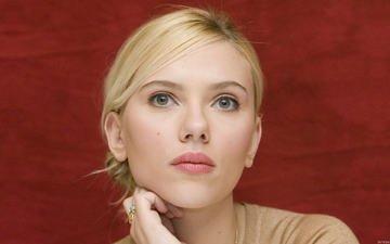 девушка, блондинка, портрет, взгляд, модель, лицо, актриса, скарлетт йоханссон