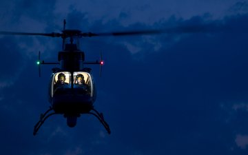 night, helicopter