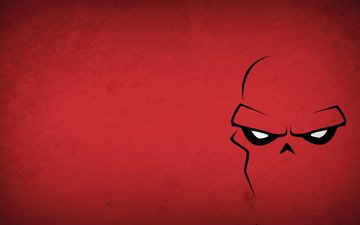 figure, picture, minimalism, redskull, red skull