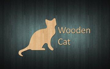 кот, дерева, wooden cat, wooden style, в стиле