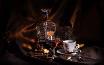 напиток, дым, чашка, натюрморт
