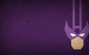 figure, picture, hero, minimalism, hawkeye, 1920x1080