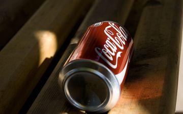 напиток, кока-кола, баночка