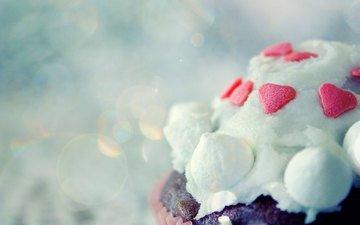 сердечко, сердце, пирожное, тортик