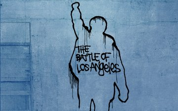 рисунок, надпись, стена, the battle of los angeles, rage against the machine