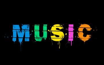 фон, музыка, краски, минимализм, слово, музыкa