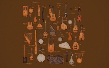 tools, string, music
