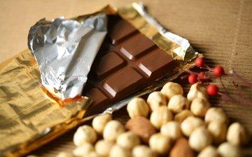 орехи, еда, шоколад, сладкое, десерт, в шоколаде, сладенько