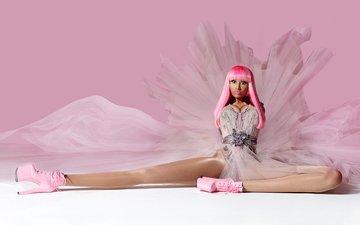 девушка, платье, музыка, певица, розовое, nicki minaj, pink friday, ники минаж