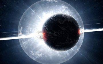 космос, звезды, вспышка, планеты, вселенная, взрыв, взрывная волна