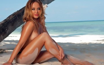 sea, sand, beach, zhanna friske