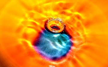 вода, капля, цвет