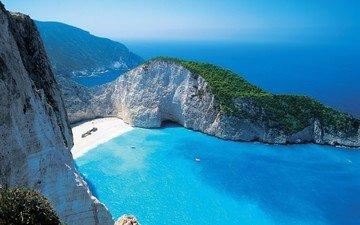 скалы, море, пляж, лагуна, бухта, мечта
