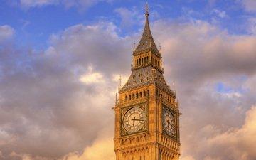 великобритания, лондон, биг бен
