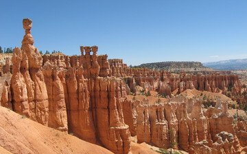небо, скалы, каньон, америка, брайс каньон