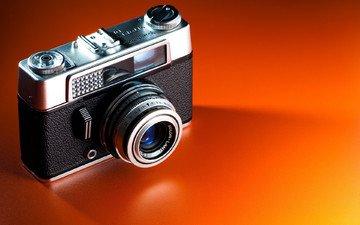 фотоаппарат, voigtlander, vitoret, оранжевый фон, dr