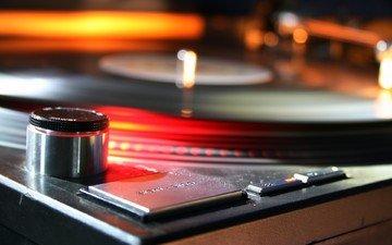 музыка, движение, винил, пластинка, вертушка, радиоаппаратура