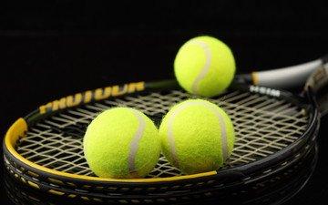 macro, sport, tennis, racket, balls
