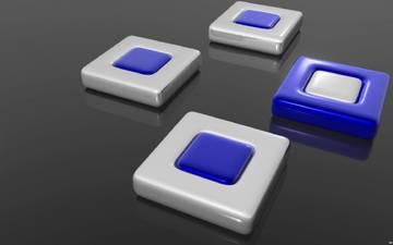 кнопки, квадратики, 3д, 3d-графика