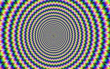 абстракция, движение, иллюзия, галлюцинация