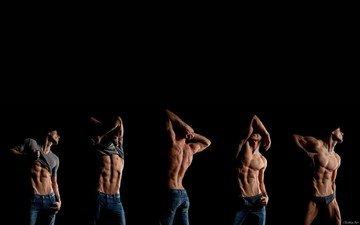 тело, и, мышцы, качек, фото красивого, ухоженного, мужского, тела.