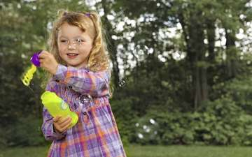 природа, девочка, ребенок, мыльные пузыри