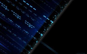 абстракция, цифры, компьютер, бит, двоичный код, технологии, код, один, ноль, байт