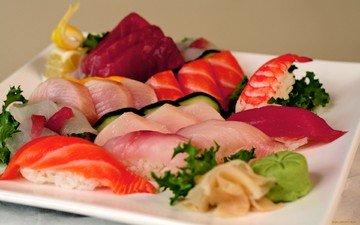 еда, рыба, суши, роллы, морепродукты, деликатес