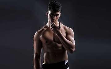 парень, красивый, мышцы, накаченное тело