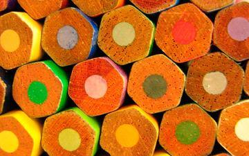 макро, карандаши, цветные, канцелярия