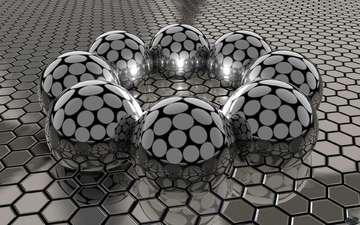 металл, шары, соты, сталь, поверхность, притяжение