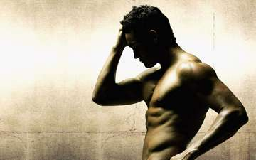 guy, profile, beautiful, torso, muscle