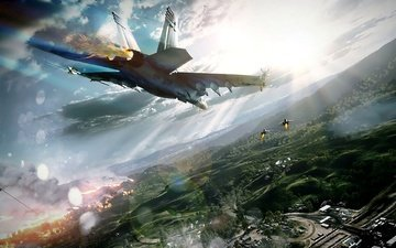aviation, aircraft, the battle, fighters, battlefield 3, game