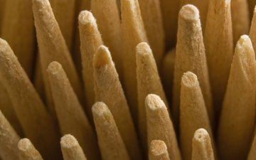 macro, sticks, wooden, toothpicks