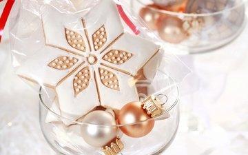 новый год, звезда, шарики, игрушки, подарок, украшение, печенье, елочные, звездочка, угощение, рождественское печенье