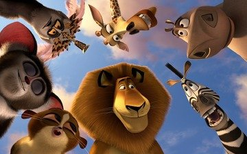 zebra, animals, leo, giraffe, lemurs, king, hippo, madagascar, alex, marty, gloria, melman