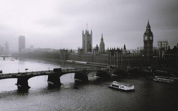 туман, лондон, биг бен