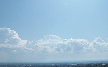 небо, город, oblaka облака