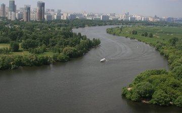 москва, россия, москва река